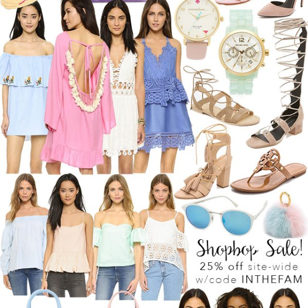 shopbop friends and family sale round up