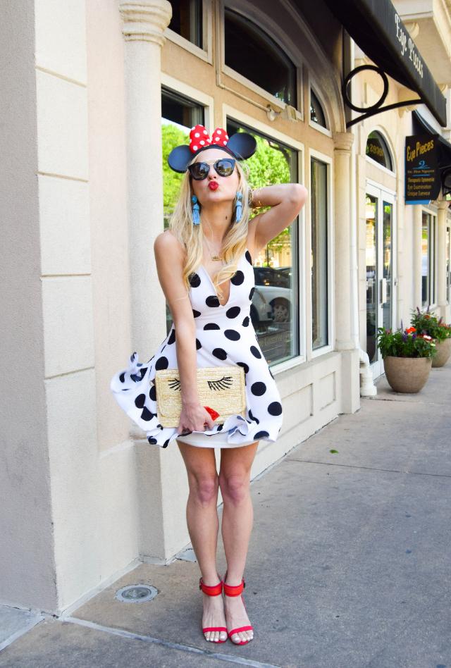 76a5b5734cd black and white polka dot dress minnie mouse inspired dress kissy face  clutch polka dot dress minnie mouse inspired outfit ...