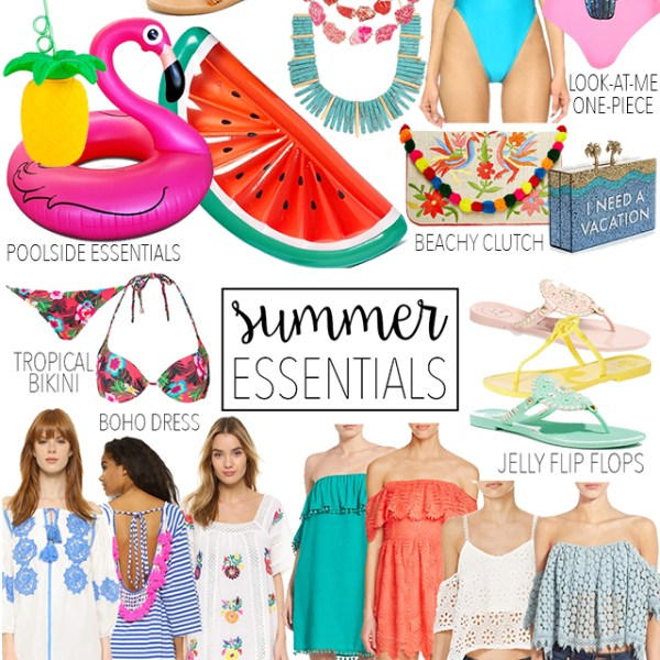 summer-2016-essentials-must-haves-colorful-outfits-off-the-shoulder-dresses-tops-straw-bags-pom-pom-sandals-pool-floats-beach-must-haves-vandi-fair-dallas-fashion-blog-texas-blogger-shopping-guide