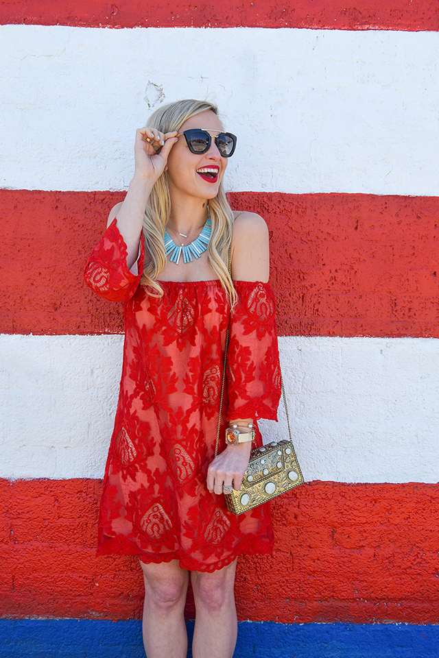 vandi-fair-blog-lauren-vandiver-dallas-texas-southern-fashion-blogger-red-lace-off-the-shoulder-dress-storee-baublebar-pharaoh-turquoise-necklace-prada-retro-cat-eye-sunglasses