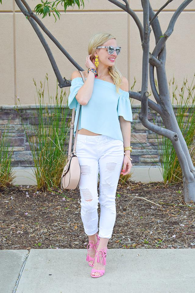 vandi-fair-blog-lauren-vandiver-dallas-texas-southern-fashion-blogger-topshop-light-blue-livi-off-the-shoulder-top-vigoss-destroyed-white-skinny-jeans-sam-edelman-azela-tassel-sandals-9