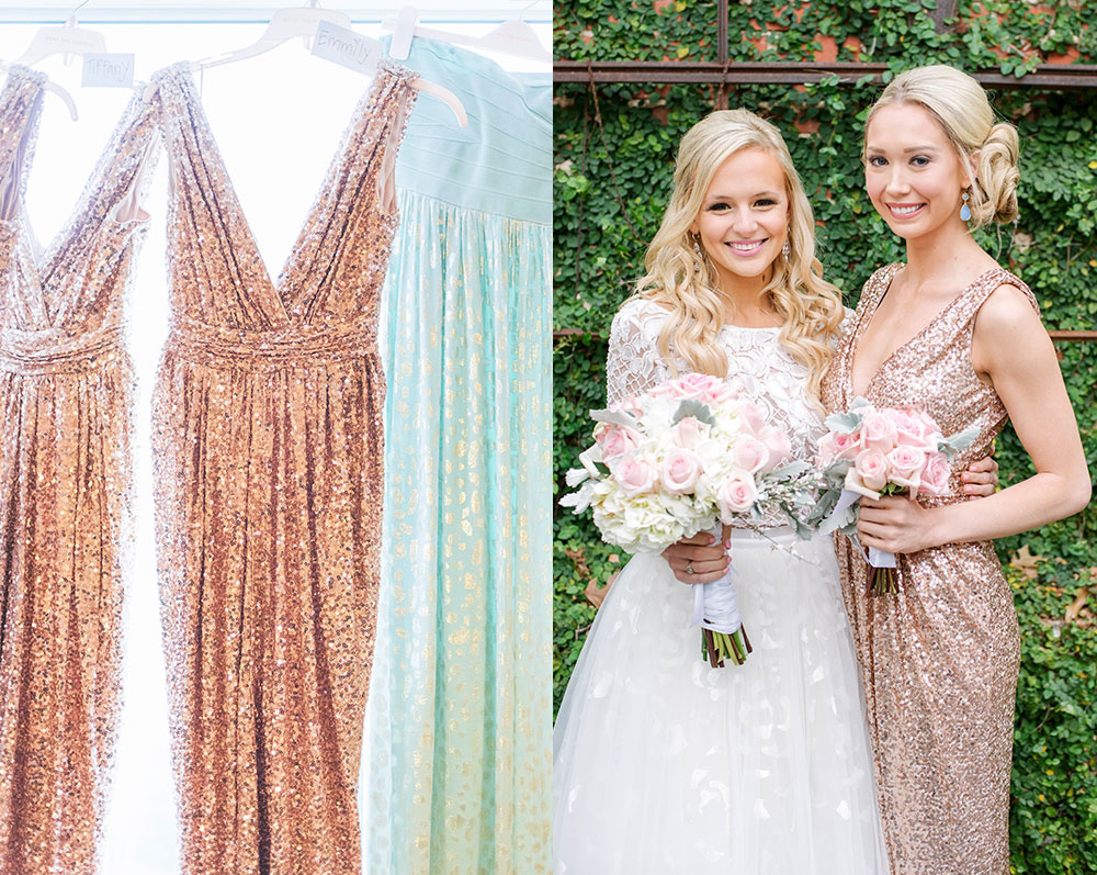 vandi-fair-blog-lauren-vandiver-dallas-fashion-blogger-wedding-bridesmaids-dresses-rent-the-runway-badgley-mischka-rose-gold-sequin-gowns-margaret-elizabeth-earrings