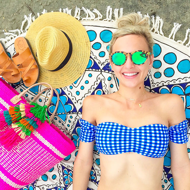 vandi-fair-blog-lauren-vandiver-dallas-texas-fashion-blogger-costa-rica-instagram-ig-round-up-shop-lauren-james-gingham-off-shoulder-bikini-swim-top