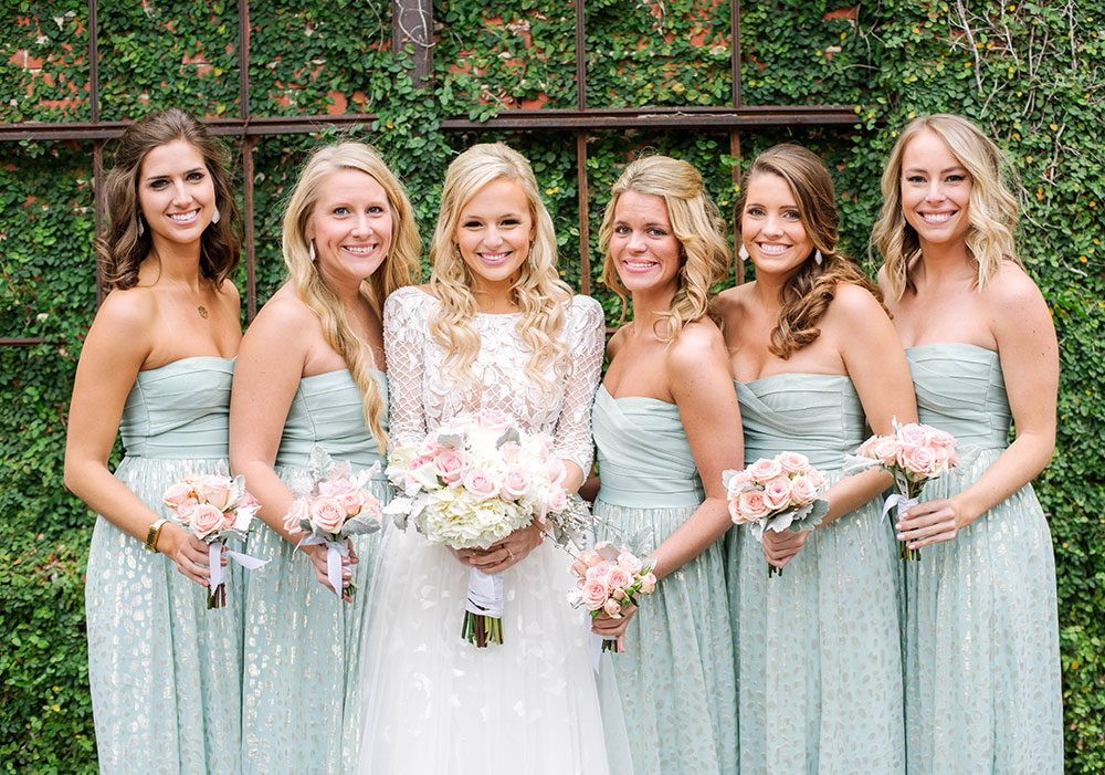 My bridal party looks a giveaway vandi fair for Wedding dress rentals dallas tx