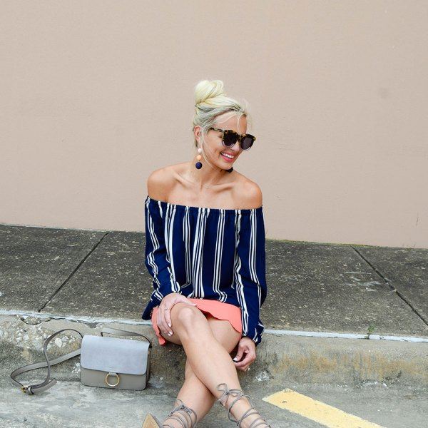 vandi-fair-blog-lauren-vandiver-dallas-texas-southern-fashion-blogger-shop-tristin-clothing-online-boutique-local-navy-nautical-striped-off-the-shoulder-top-coral-scallop-skirt-fall-outfit-11