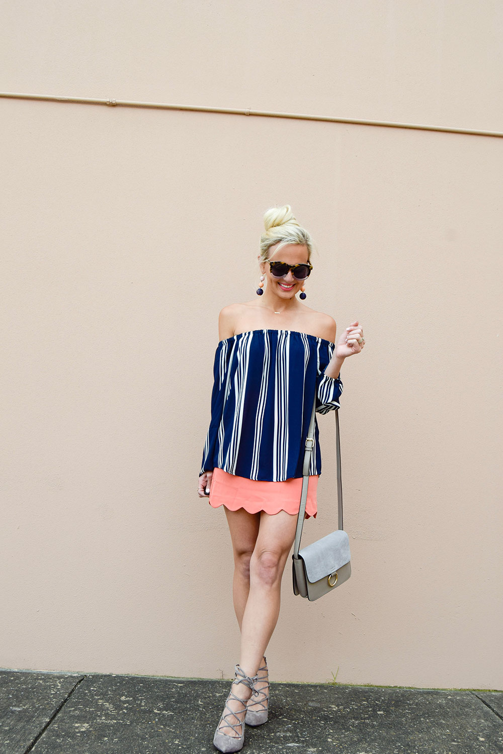 vandi-fair-blog-lauren-vandiver-dallas-texas-southern-fashion-blogger-shop-tristin-clothing-online-boutique-local-navy-nautical-striped-off-the-shoulder-top-coral-scallop-skirt-fall-outfit-5