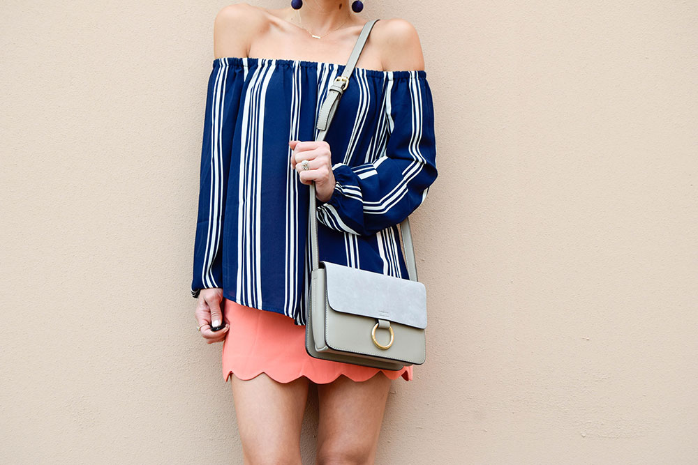 vandi-fair-blog-lauren-vandiver-dallas-texas-southern-fashion-blogger-shop-tristin-clothing-online-boutique-local-navy-nautical-striped-off-the-shoulder-top-coral-scallop-skirt-fall-outfit-9