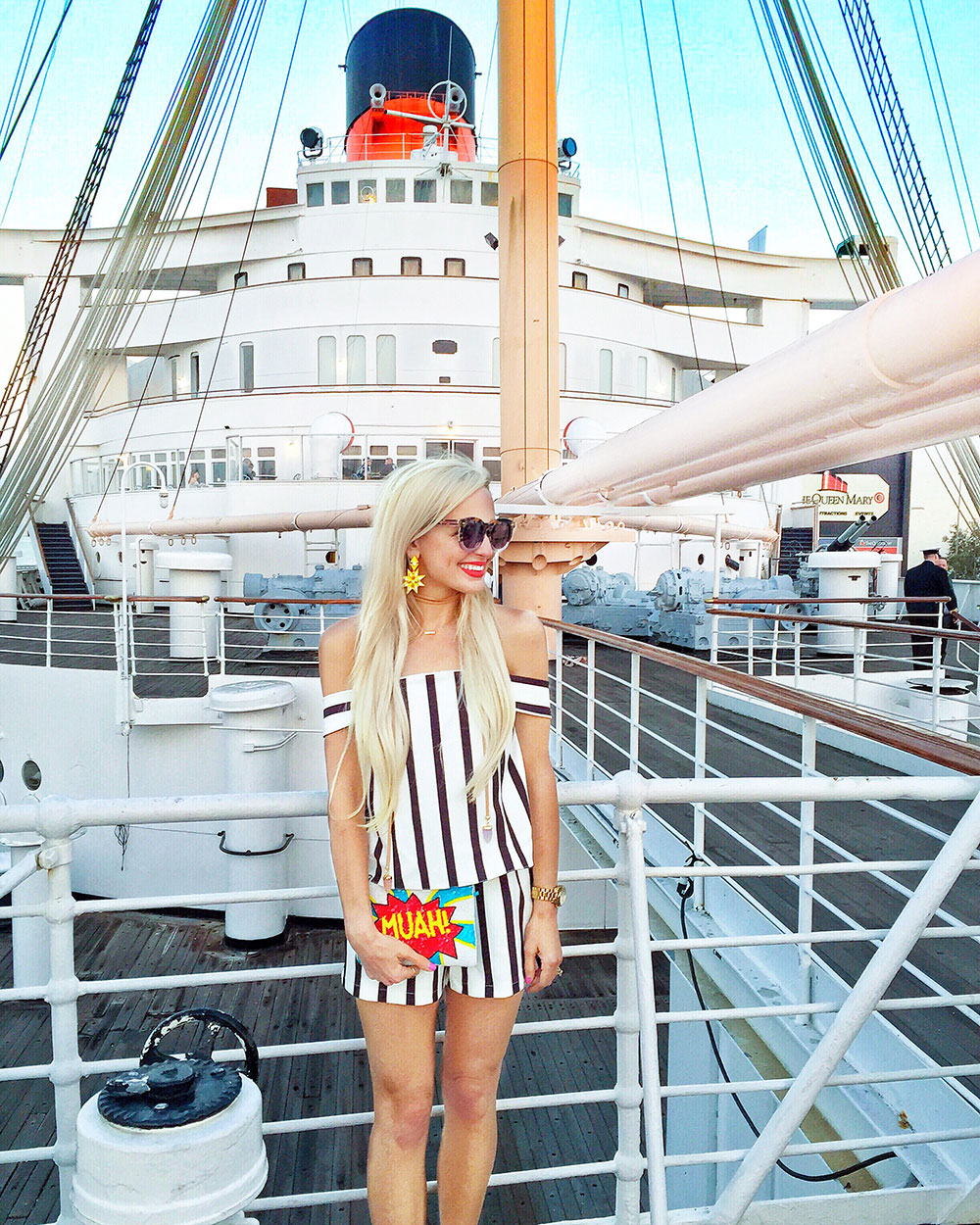 vandi-fair-dallas-fashion-blog-lauren-vandiver-southern-texas-travel-blogger-queen-mary-ship-visit-long-beach-topshop-nordstrom-striped-romper