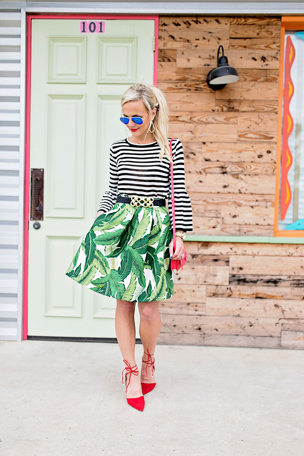 palm-leaf-womens-structured-skirt-pockets