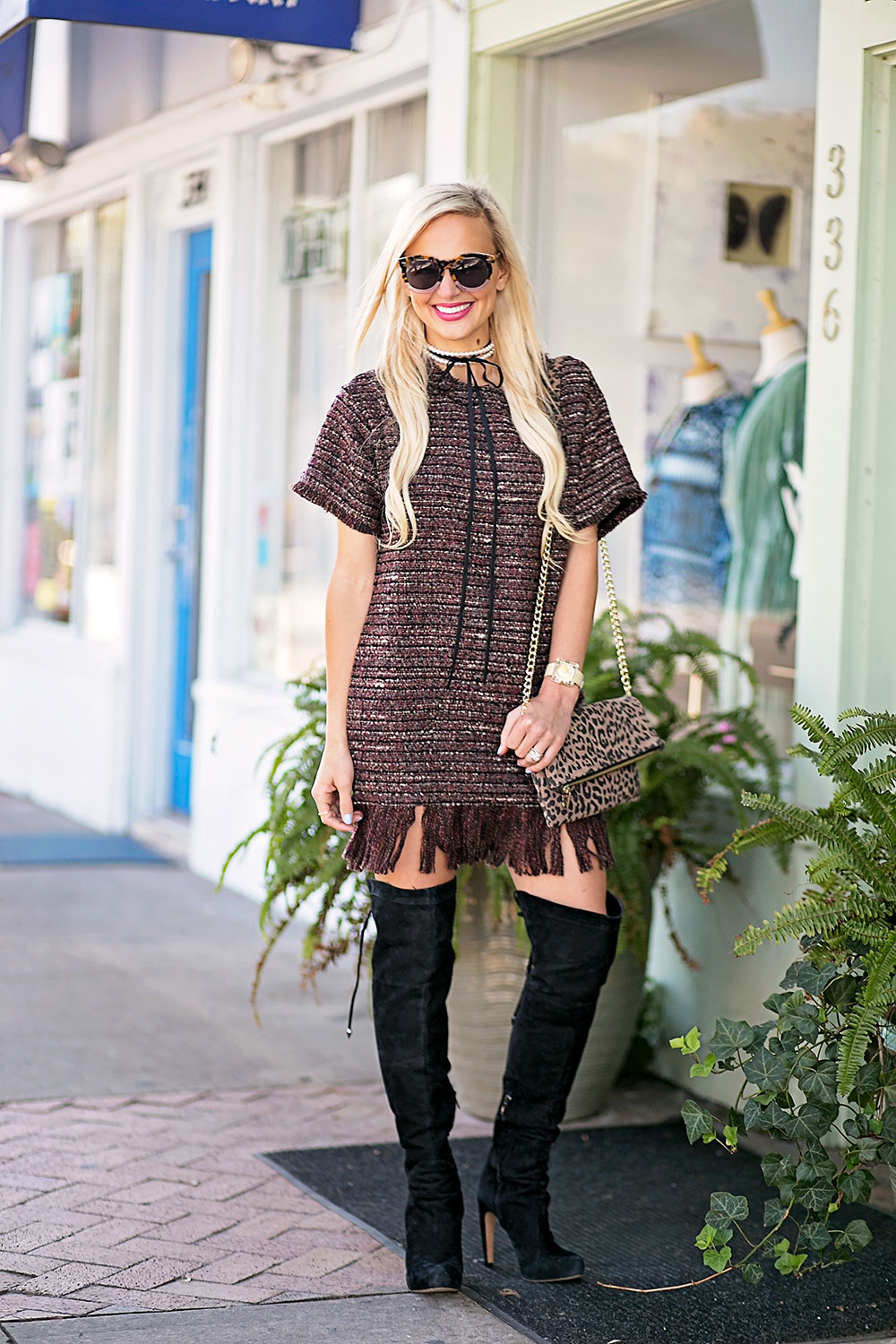 vandi-fair-blog-lauren-vandiver-dallas-texas-southern-fashion-blogger-astr-margo-fringe-shift-hem-dress-wine-over-the-knee-black-boots-3