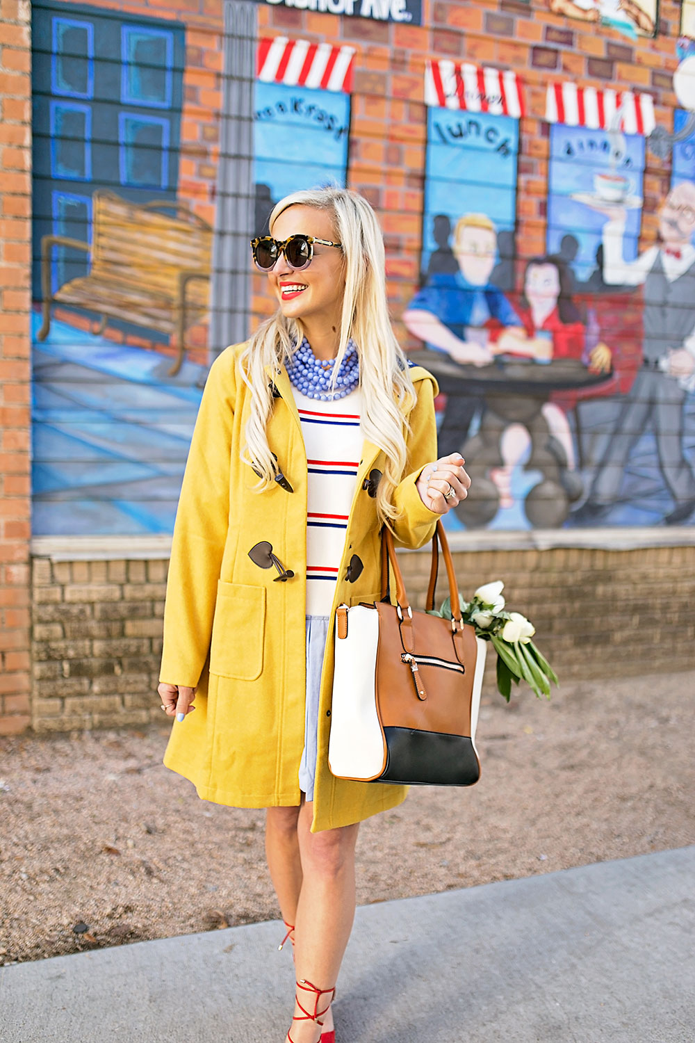 vandi-fair-blog-lauren-vandiver-dallas-texas-southern-fashion-blogger-modcloth-mustard-yellow-pea-coat-theatre-greetings-saffron-three-tone-satchel-bag-triple-the-charm-cognac-1