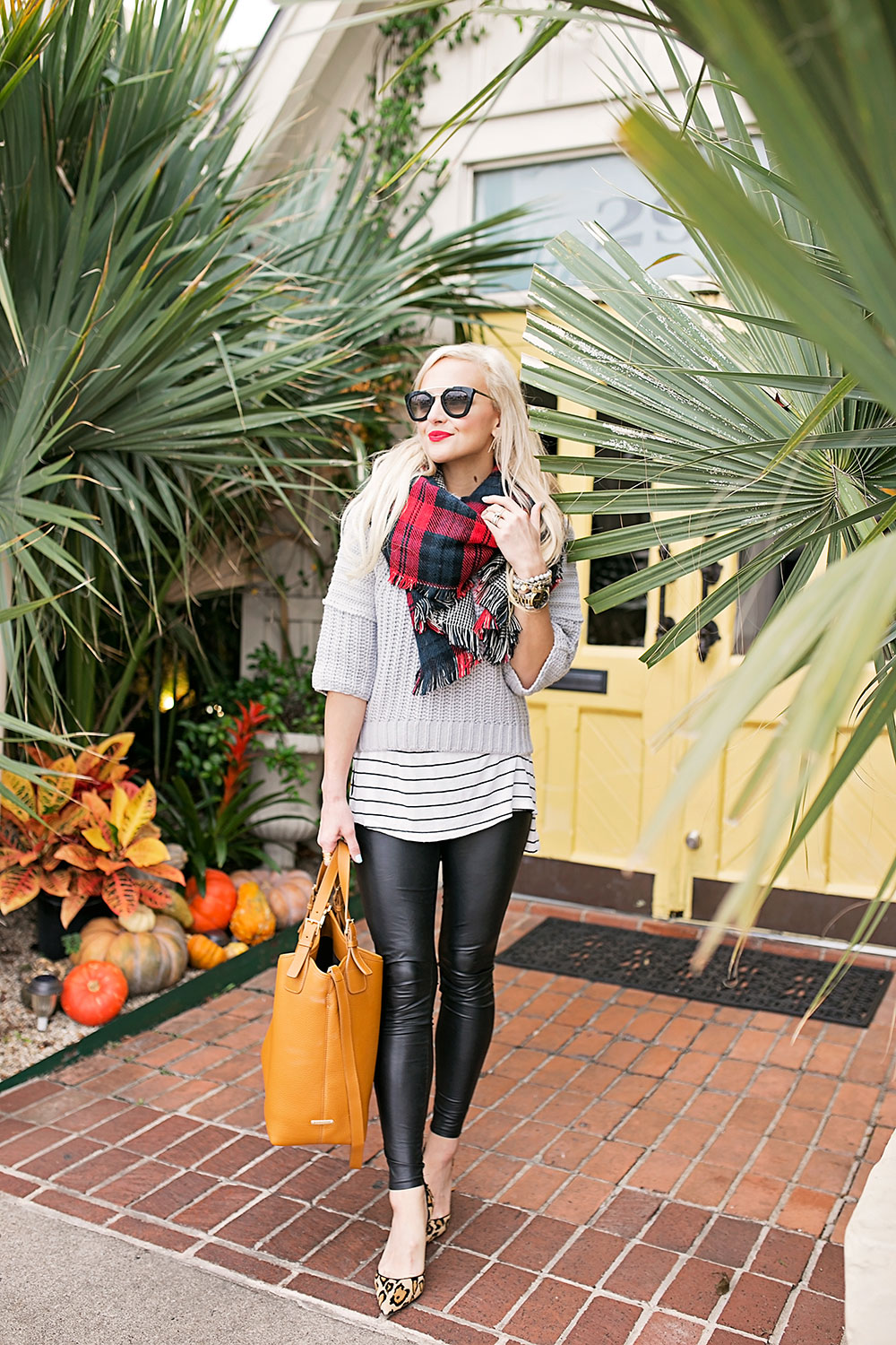 striped-long-tee-grey-sweater-layered-outfit