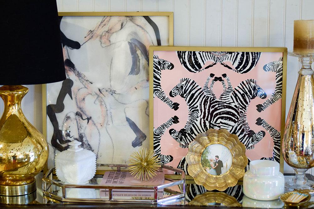gold black pink home decor inspiration - Home Decor Giveaway