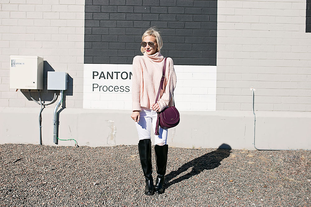 light-pink-turtle-neck-sweater-outfit