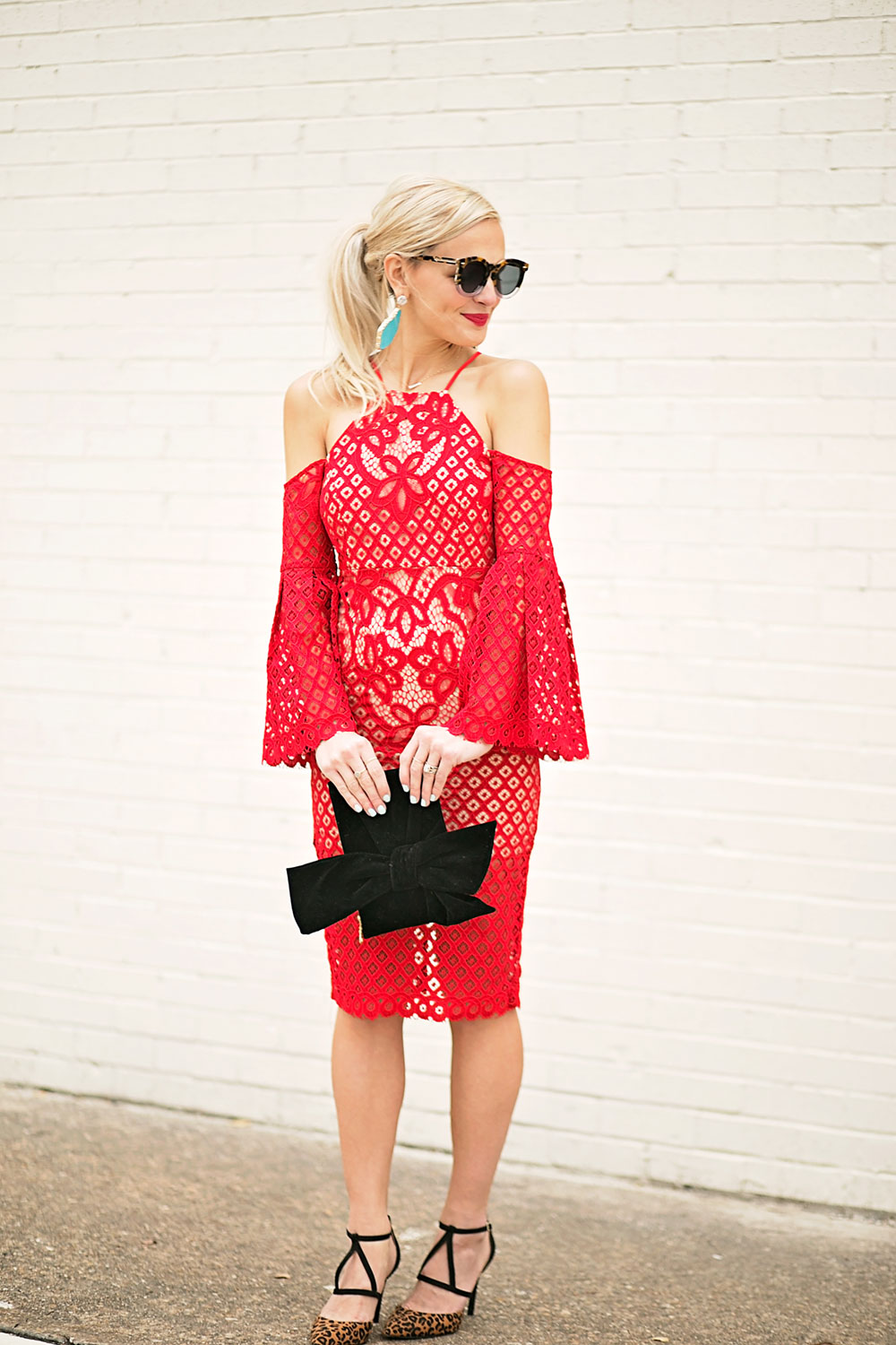 cold-shoulder-lace-midi-dress