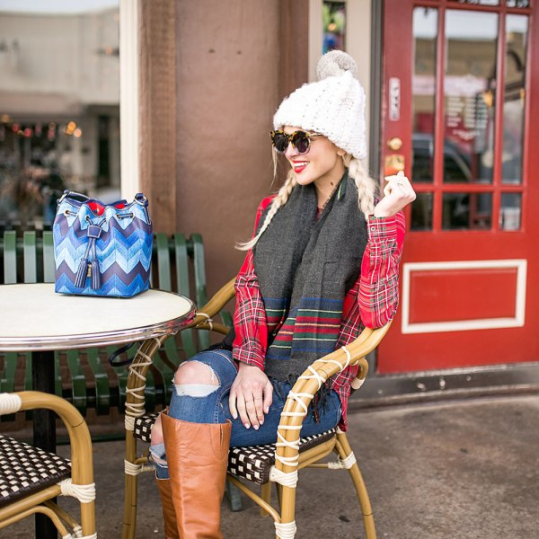 plaid-on-plaid-cozy-winter-outfit