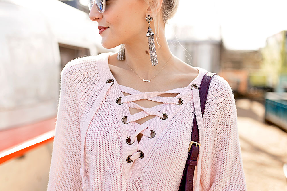 light-pink-lace-up-sweater