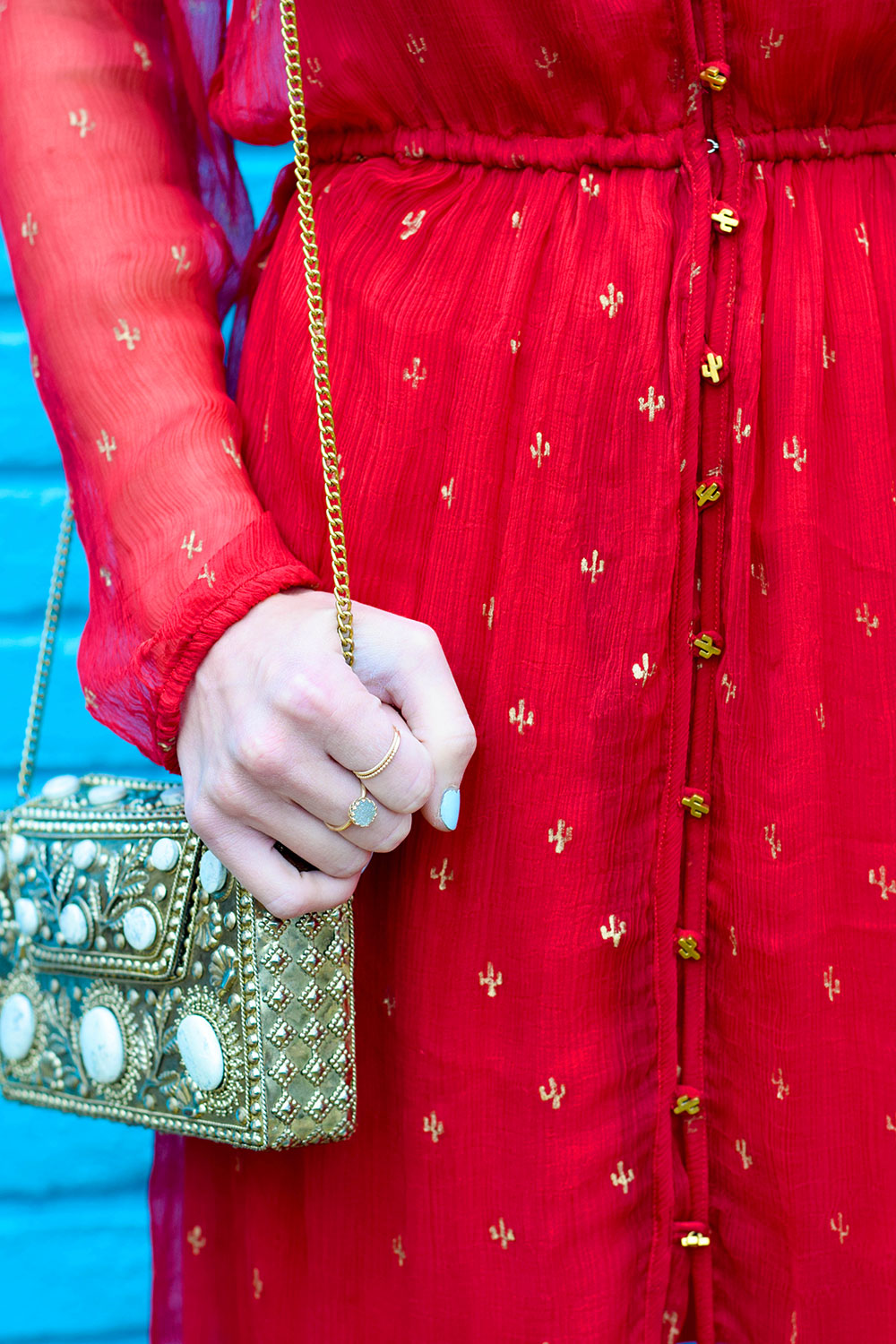 gold-cactus-printed-red-maxi-dress