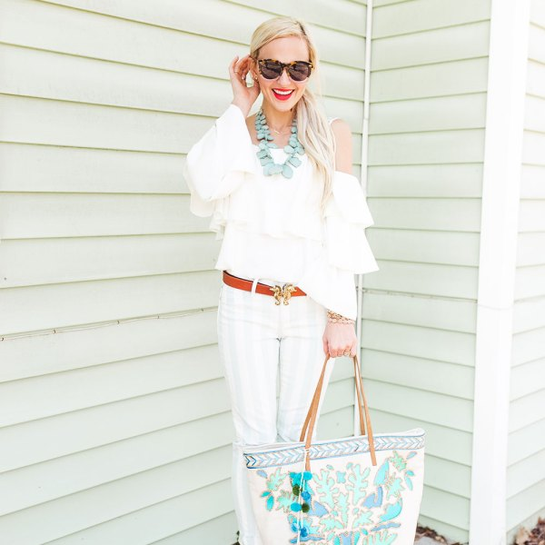 ruffled-white-cold-shoulder-top
