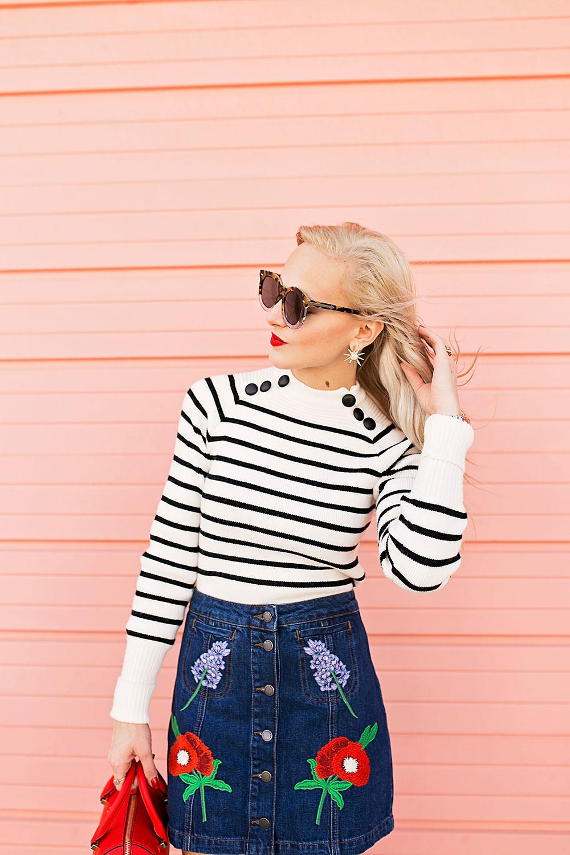 striped-black-and-white-button-collar-sweater
