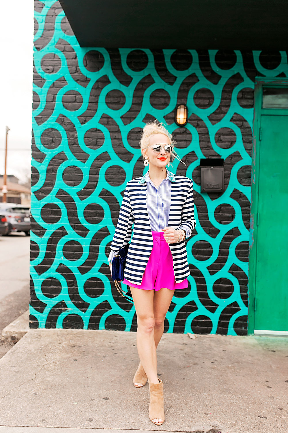 striped-blazer-shorts-spring-outfit