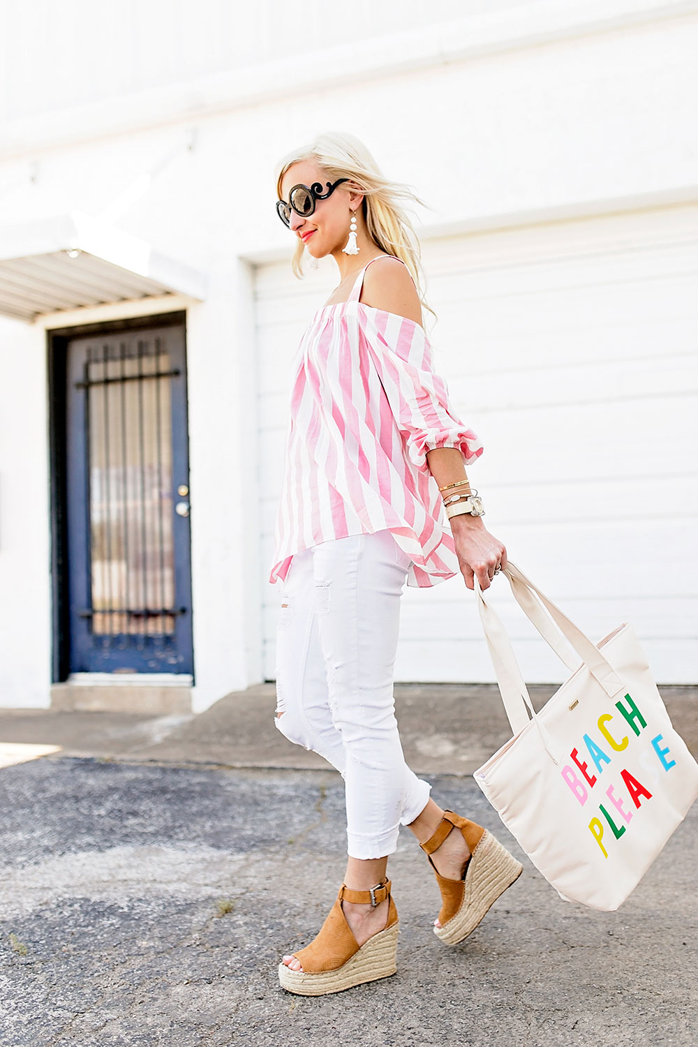 3fa189bffe9f pink-and-white-striped-cold-shoulder-top-outfit