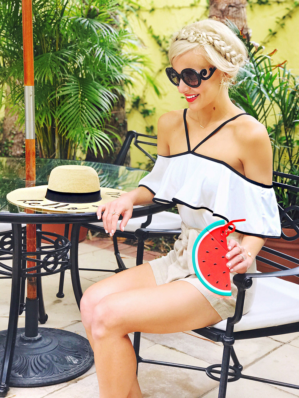 white-off-the-shoulder-ruffle-one-piece-swim-suit
