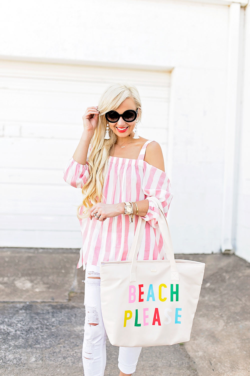 cc6085c15a62 white-skinny-jeans-and-pink-striped-cold-shoulder- ...