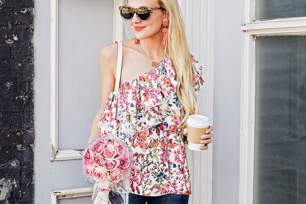 one shoulder top nordstrom