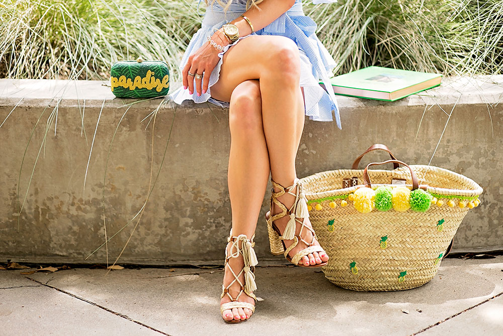 tassel sandals heels