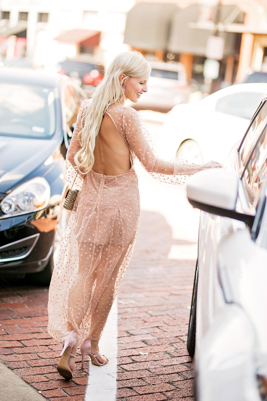 sheer long sleeve maxi dress
