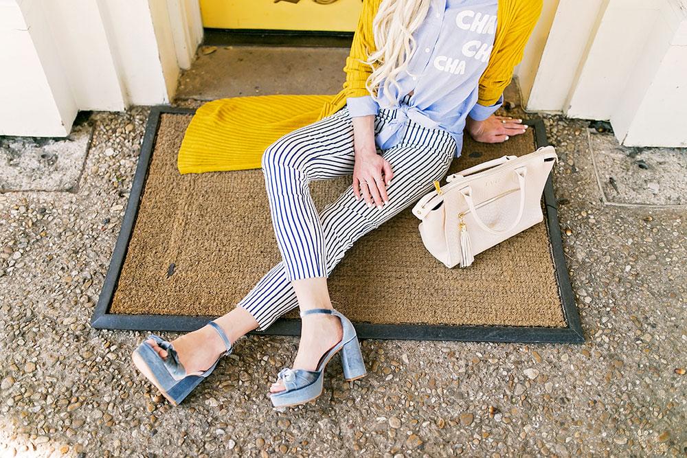 blue velvet platform heel