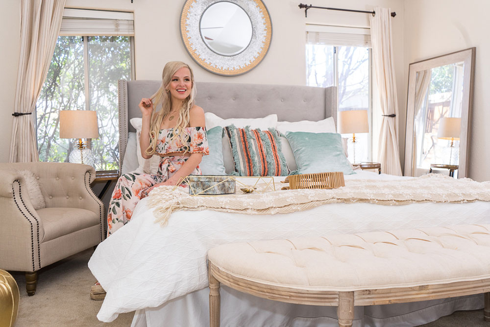 Our Modern-Farmhouse-Meets-Beach-House Bedroom Makeover
