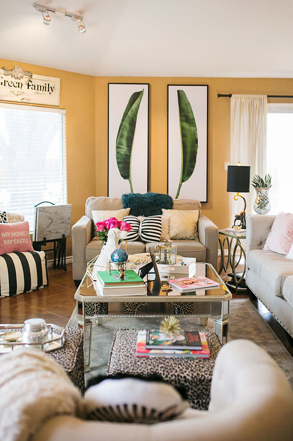living room makeover. tropical living room makeover Our Tropical Chic Living Room Makeover  Vandi Fair