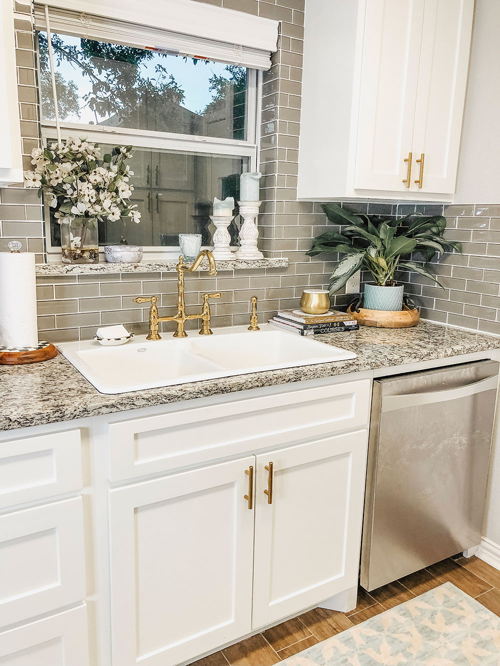 Our Kitchen Sink Woes + Our Small Kitchen Reveal | Vandi Fair on Kitchen Sink Ideas  id=37322