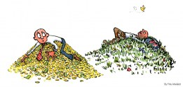 money-vs-nature-two-hills-illustration-by-frits-ahlefeldt