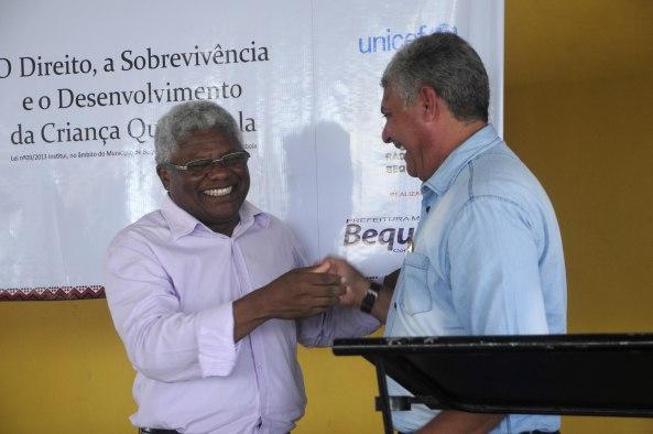 Prefeito Zé Martins Cumprimenta o secretário de Estado da Igualdade Racial, Gerson Pinheiro