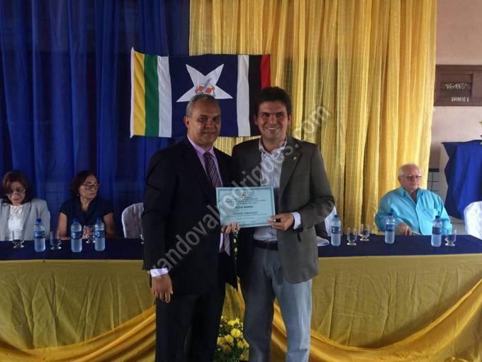 Vereador Cesar Pereira Ribeiro e o deputado federal Victor Mendes