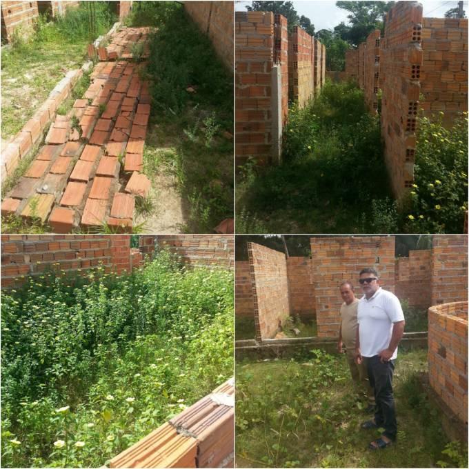 O município já recebeu 1.224.000,00 (um milhão duzentos e vinte e quatro mil reais), e as obras estão inacabadas.