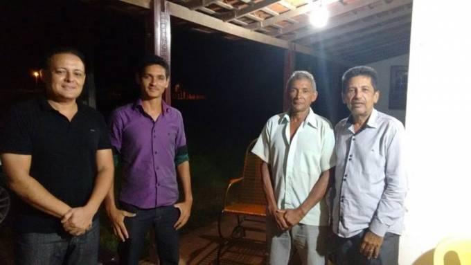 Dr. Neto Soares, Pretinho Amorim, ex-vereador Joaçi Lima e ex-prefeito, João Amorim.