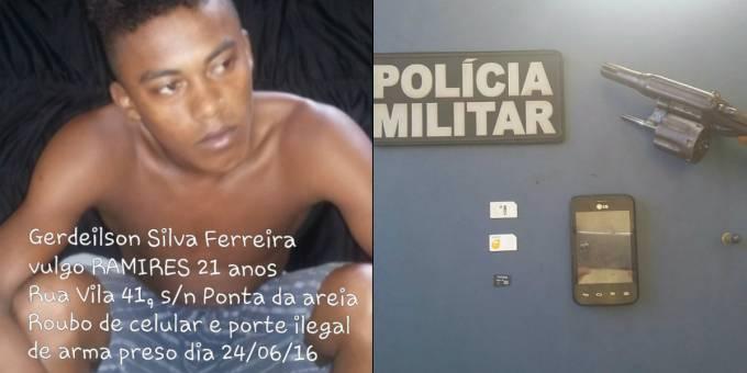 """Gerdeilson Silva Ferreira, """"Ramires"""", 21 anos, morador da Vila 41, Ponta d'areia em Santa Helena"""