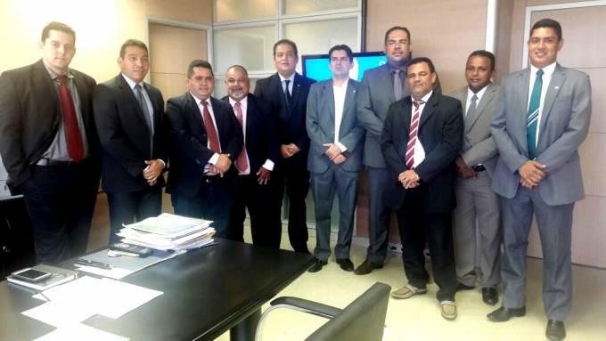 A comitiva foi recebida pelo Secretário de Infraestrutura Hídrica do Ministério da Integração Nacional, Rodrigo Mendes de Mendes.