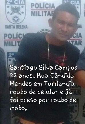 Santiago Silva Campos 22 anos, regatado por comparsas da Delegacia de Turilândia