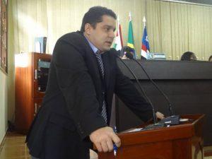 O vereador Augusto Vinicius (Guto) PV, membro da mesa diretora.