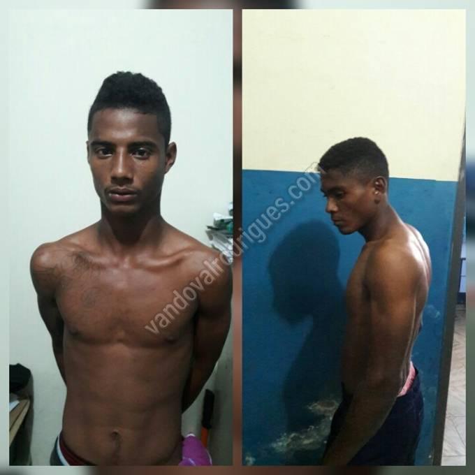Erick Junior Correia Diniz e Wedson dos Santos Costa suspeitos de terem assassinado o agricultor, Edvaldo dos Santos Saraiva.