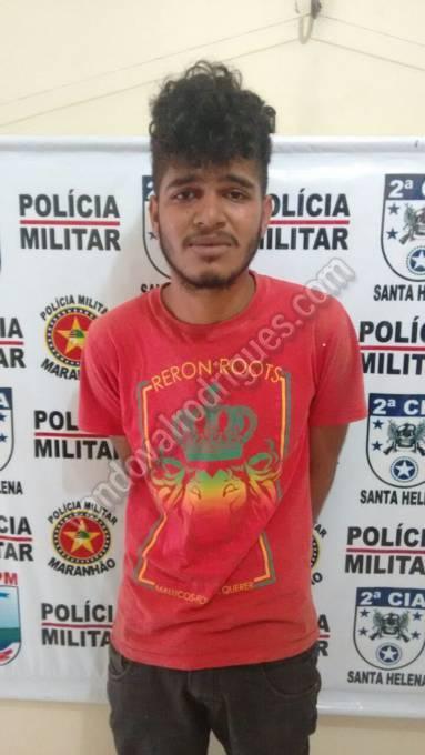 Mateus Bruno Amorim da Silva de 18 anos, acusado de tráfico.