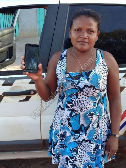 Jucinalva Melo com ajuda da PM recuperou seu celular.