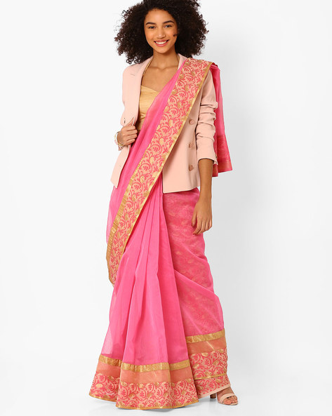 https://www.ajio.com/amori-saree-with-floral-embroidery/p/460057263_pink