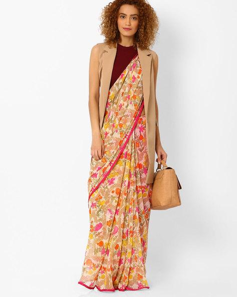 https://www.ajio.com/arissa-printed-saree-with-contrast-border/p/460058061_pink
