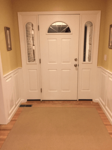 wainscotting doorway